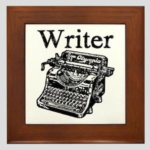 Writer-typewriter-1 Framed Tile