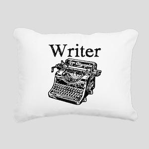 Writer-typewriter-1 Rectangular Canvas Pillow