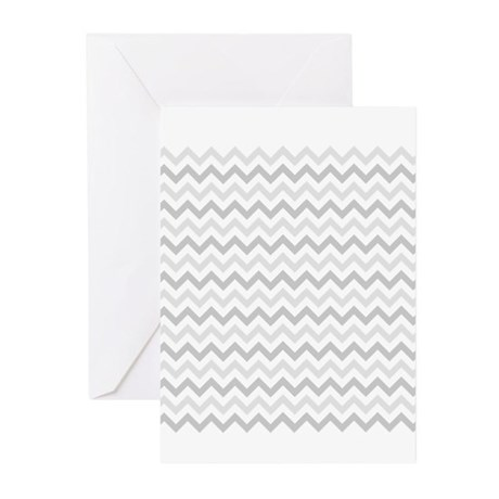 Grey Chevron Greeting Cards