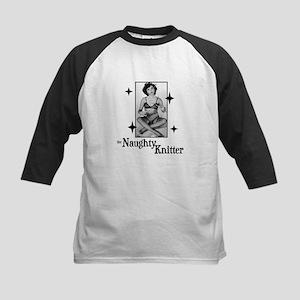 The Naughty Knitter Kids Baseball Jersey