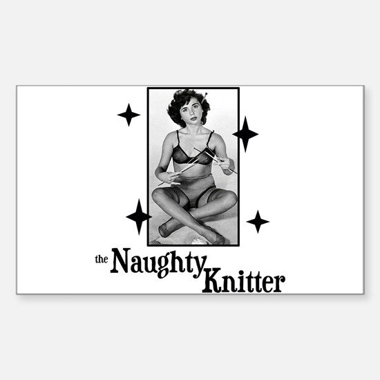 The Naughty Knitter Rectangle Decal
