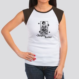 The Naughty Knitter Women's Cap Sleeve T-Shirt