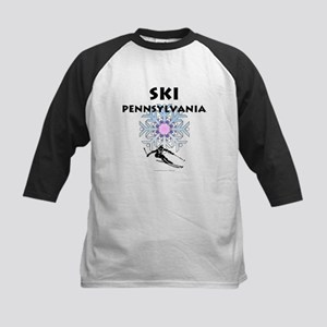 Ski Pennsylvania Kids Baseball Jersey