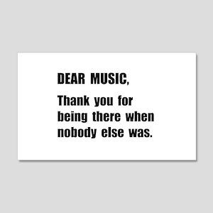 Dear Music Wall Decal