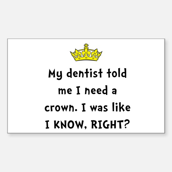 Dentist Crown Decal