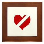 'Heartless Valentine' Framed Tile