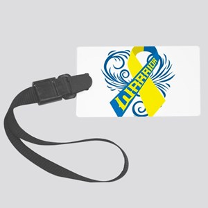 Down Syndrome Warrior Large Luggage Tag