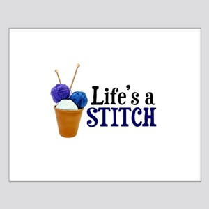 Knitting - Life's a Stitch Small Poster