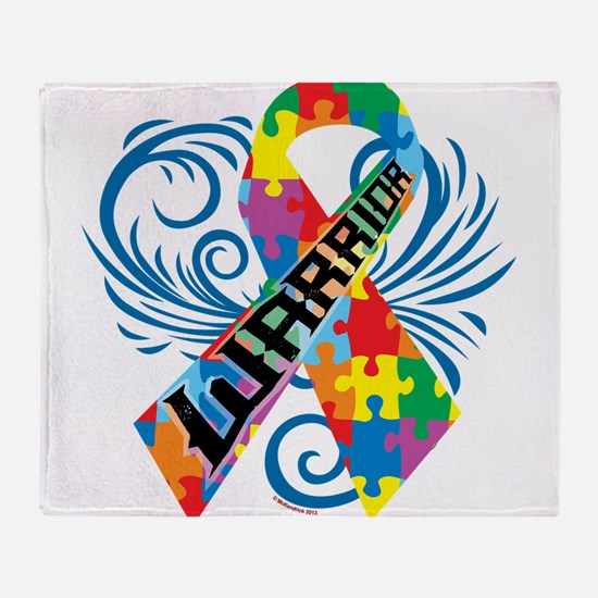 Autism Warrior Throw Blanket