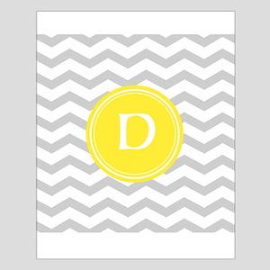 Grey Chevron Monogram Poster Design