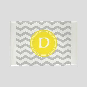 Grey Chevron Monogram Magnets
