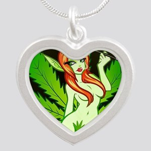 Bud420 Silver Heart Necklace