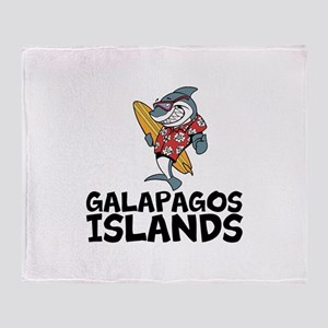 Galapagos Islands Throw Blanket