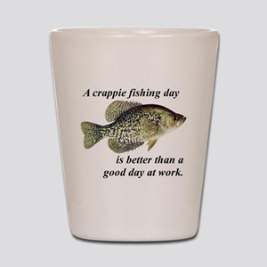 Crappie Fishing Day Shot Glass