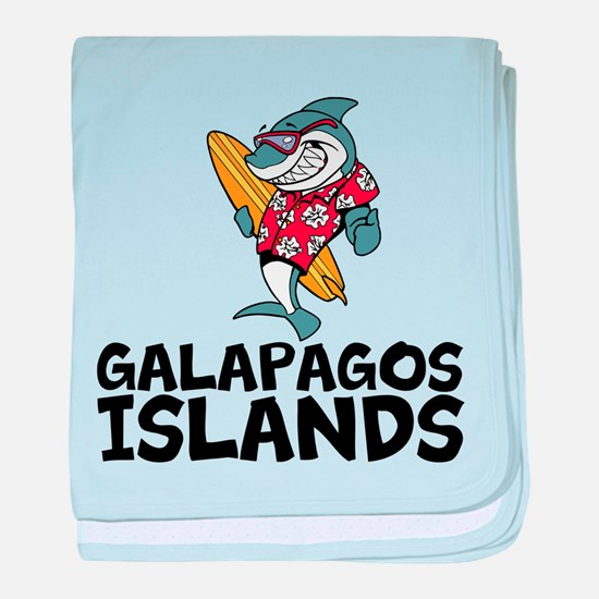Galapagos Islands baby blanket