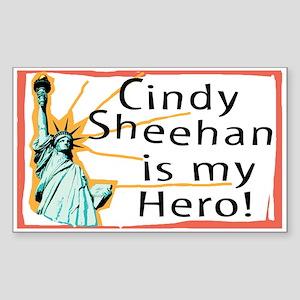 Cindy Sheehan is My Hero Rectangle Sticker