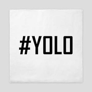 Hashtag YOLO Queen Duvet