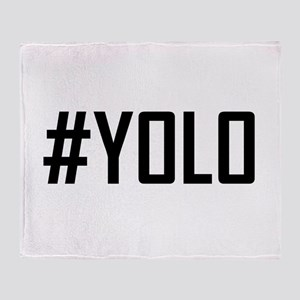 Hashtag YOLO Throw Blanket