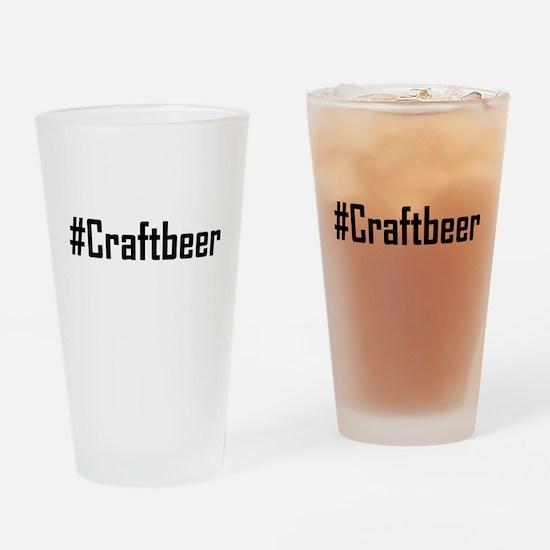 Hashtag Craftbeer Drinking Glass