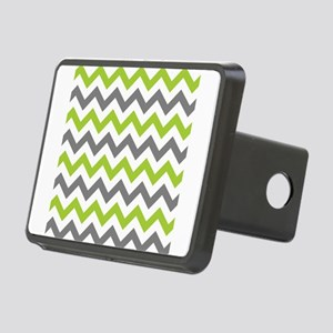 Green and Grey Chevron Rectangular Hitch Cover