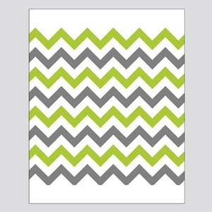 Green and Grey Chevron Poster Design