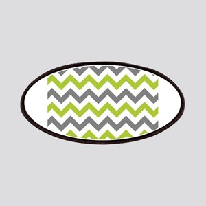 Green and Grey Chevron Patches