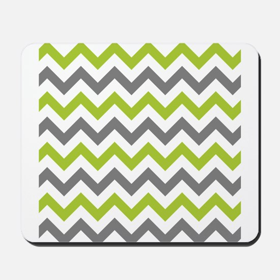Green and Grey Chevron Mousepad