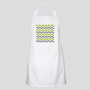 Green and Grey Chevron Apron