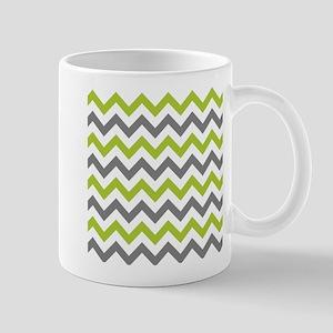 Green and Grey Chevron Mugs