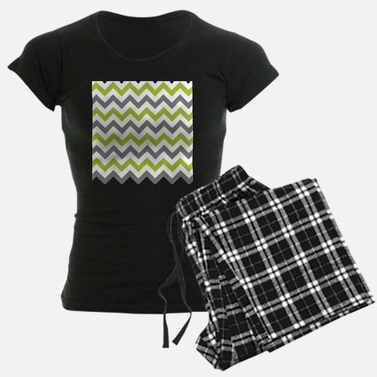 Green and Grey Chevron pajamas