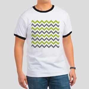Green and Grey Chevron T-Shirt