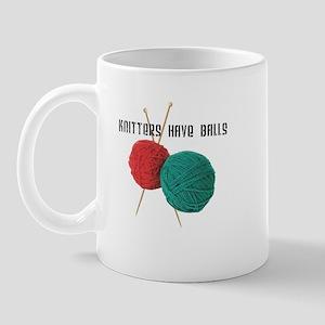 Knitters have Balls Mug