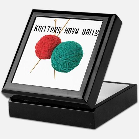 Knitters have Balls Keepsake Box