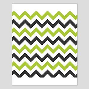 Green and Black Chevron Poster Design