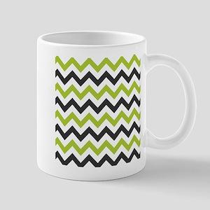 Green and Black Chevron Mugs