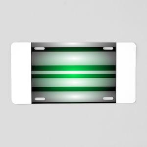 Green Light Aluminum License Plate