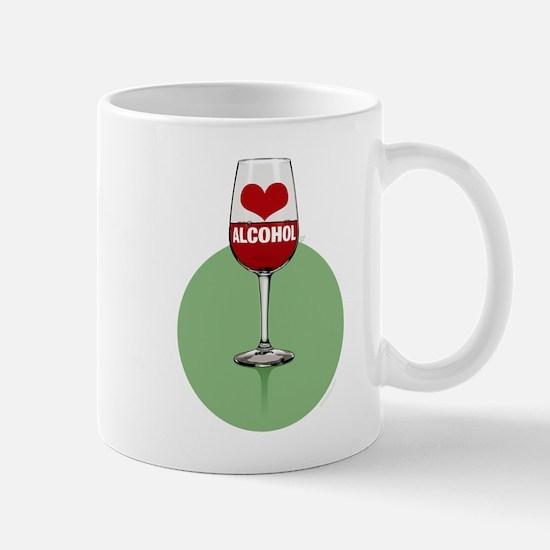 Wine: [love/heart] alcohol Mugs