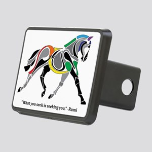 Charkas Horse  Rectangular Hitch Cover