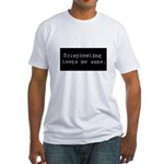 Scrapbooking Keeps Me Sane Fitted T-Shirt