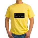 Scrapbooking Keeps Me Sane Yellow T-Shirt
