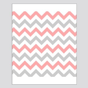 Coral and Grey Chevron Poster Design