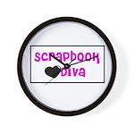 Scrapbook Diva Wall Clock
