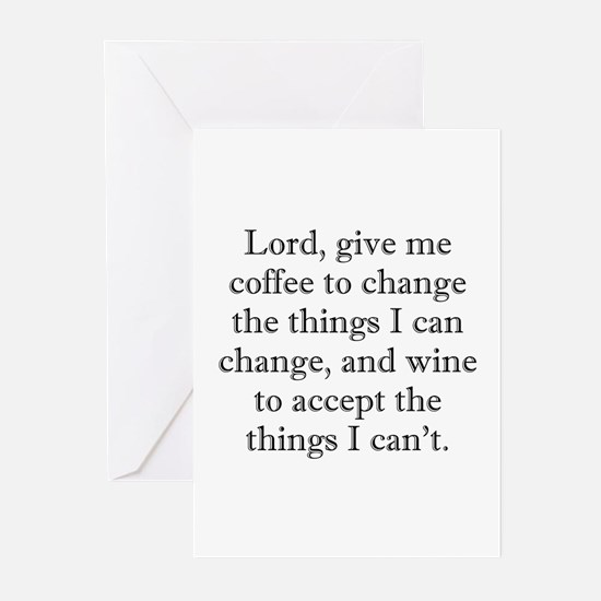 Lord Coffee Wine Greeting Cards