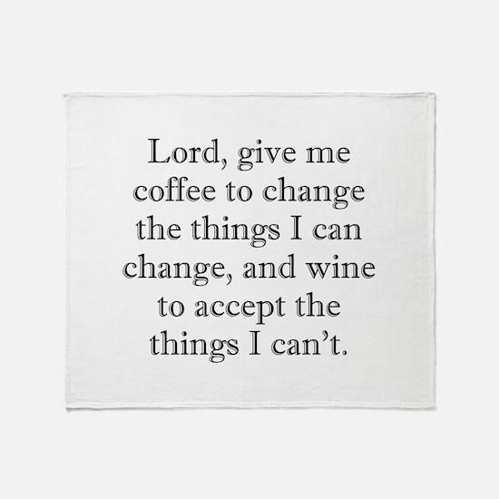 Lord Coffee Wine Throw Blanket