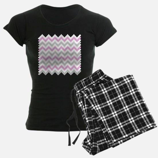 Pink and Grey Chevron pajamas