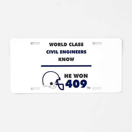 Civil Engineers Aluminum License Plate