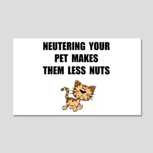 Neutering Nuts Cat Wall Decal