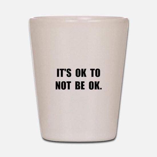 Ok Not Ok Black Shot Glass
