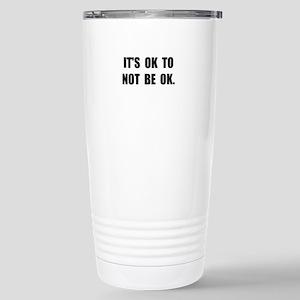 Ok Not Ok Black Travel Mug