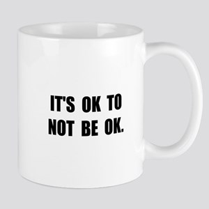 Ok Not Ok Black Mugs